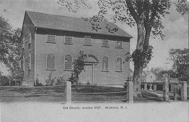 Old Narragansett Church in Wickford, founded in 1706