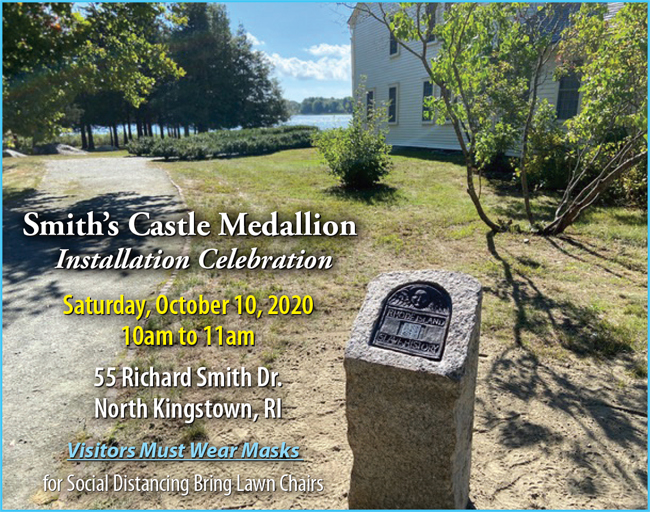Smith's Castle's Dedication of RI Slave History Medallion