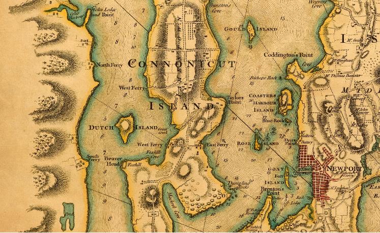 Jamestown (Conanicut), Blaskowitz Map, 1777