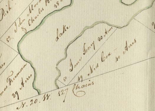 Jane (Jenny) Toney Land Grant - 20 acres, Birchtown, Shelburne, Nova Scotia, 1787